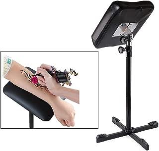 Tattoo Armrest, Cross Arm Rest Tattoo Leg Soft Sponge Pad Arm rest Tripod Stand Portable Tattoo Leg with Adjustable Height for Studio Salon Tattoo