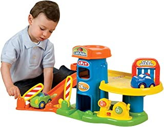 My First Garage Toy Car Garage for Kids Including 3 Chunky Cars