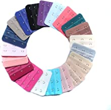 30Pcs Assorted Colors 3-Hook 3 Rows Bra Extender Spacing Bra Extension Hooks Strap Soft Back Band Extenders for Women Lady