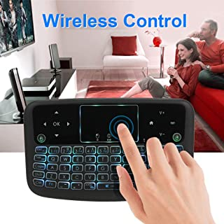 Calvas A36 Mini Air Mouse For Smart TV 2.4GHz Backlit Wireless Keyboard Touchpad Keyboard For Android TV Box Smart TV PC Rechargeable
