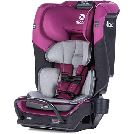 Diono 2020 Radian 3QX, 4-in-1 Convertible, Safe+ Engineering, 3 Stage Infant Protection, 10 Years 1 Car Seat, Fits 3 Across, Purple Plum