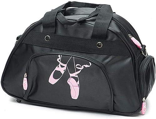 WENDYWU Girl's and Women's Ballet Dance Sports Gym Duffel Bag Travel Carry Duffel Shoulder Crossbody Bag