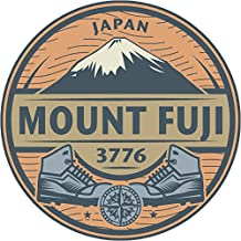 Oval MTNS Japan Mount Fuji 4x4 Sticker Decal die Cut Vinyl - Made and Shipped in USA