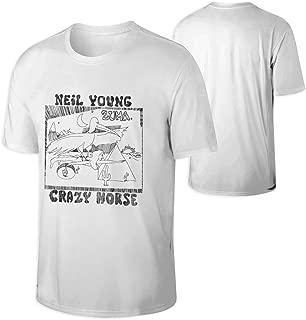 Men Neil Young Crazy Horse Zuma Sports Comfortable Short Sleeve T-Shirt