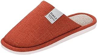 Jiyaru Soft Cotton Slippers Warm Indoor Shoes for Women Men