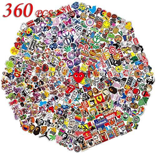 QWDDECO Sticker Pack 360 PCS Vinilo Pegatinas portátiles