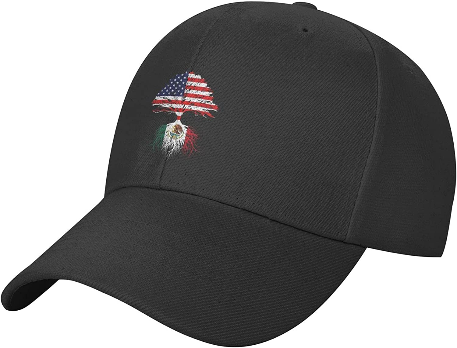Mexico Flag Mexico Hat Baseball Cap, Adjustable Trucker Hat Black Dad Hat Polo for Adults Men Women Outdoor
