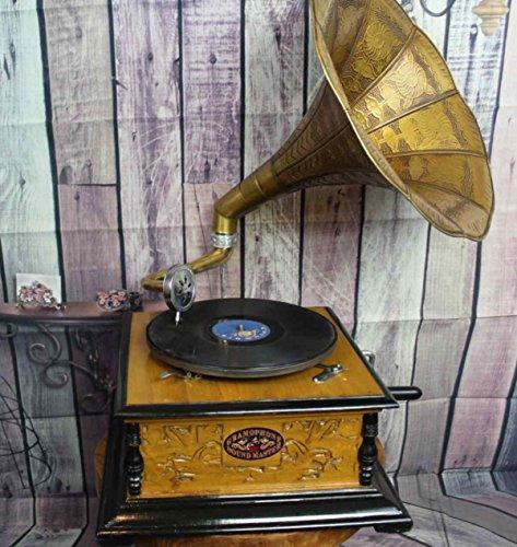 4 ECKIG Grammophon Grammophone Trichter Grammofon WOW