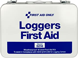 First Aid Only 5216 68 Piece Logger's First Aid Kit with Weatherproof Steel Case