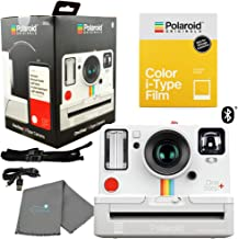 Polaroid OneStep+ White Bluetooth Connected i-Type Camera 9015 Bundle with a Color i-Type Film Pack (8 Instant Photos) and a Lumintrail Cleaning Cloth