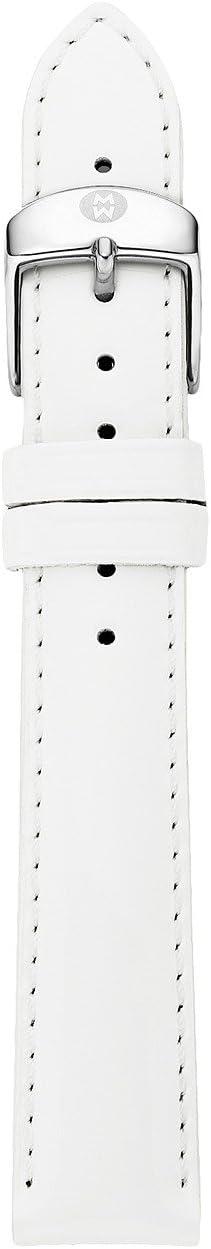Michele - 16mm White Patent Leather Strap