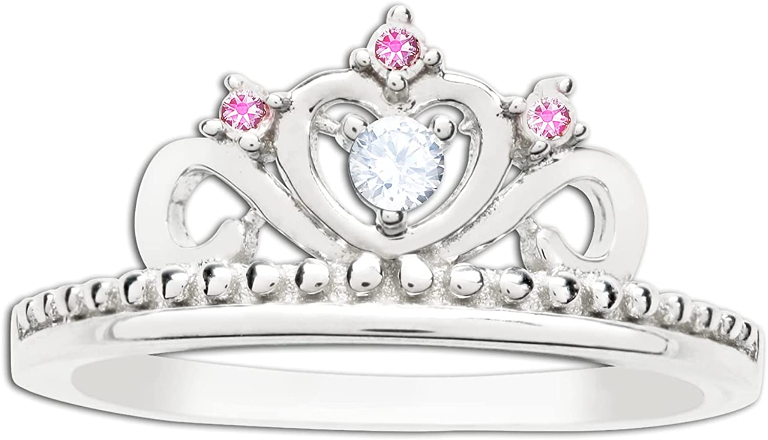 Max 50% OFF Fashion Sterling Silver Princess Tiara Baby for Little Ring Girls