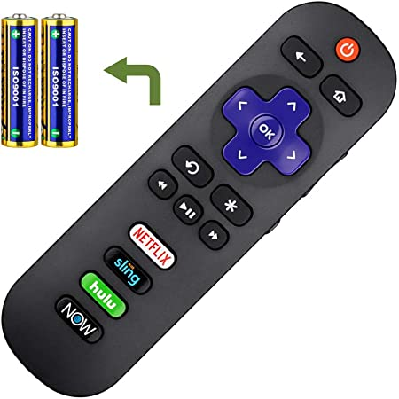 Replace Remote Compatible with All TCL Roku TV Remote Disney+ Button ROKU-Channel No Steup Required HULU Universal for TCL Roku Smart Built-in Roku TV with Netflix