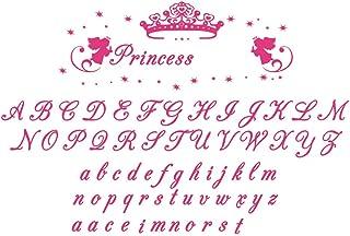 decalmile Adhesivos de Pared Nombre Personalizado de la Niña y Princesa Corona Vinilos Decorativos Habitacion Niña Infantiles Niños Bebés Dormitorios