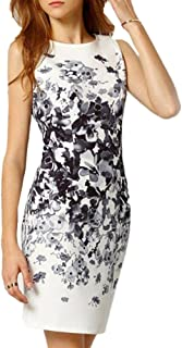 Misaky Women Dress, Women's Floral Print Sleeveless Split Cocktail Party Bodycon Dress
