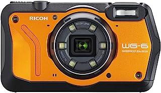 RICOH WG-6 オレンジ 本格防水カメラ 20メートル防水 耐衝撃 防塵 耐寒 高画質2000万画素 4K動画対応 高性能GPS内蔵 水中専用マーメードモード搭載 高性能GPS・電子コンパス内蔵 仕事に使える「CALSモード」搭載