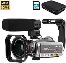 Video Camera 4K Camcorder ORDRO Real 4K Ultra HD 30FPS H.265 Digital Video Camera WiFi Recorder IR Night Vision 3.1