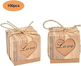 JZK 50 Mini Valise bo/îte de faveur Ficelle de Jute en Papier Kraft Petite bo/îte de Bonbons pour Mariage Anniversaire Baby Shower no/ël bapt/ême f/ête de Graduation