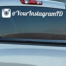 Custom Instagram Personalized Car-Wall-Vinyl Decals Stickers, 15 Inches