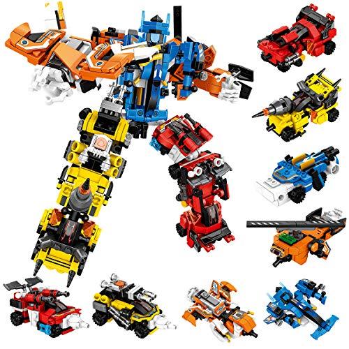 PANLOS ロボット教育学習ビルディングビルディングブロックおもちゃの車セット子供向けの車両ギフト男の子と女の子は、すべての主要ブランドに