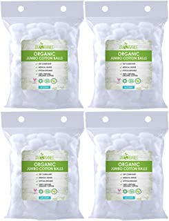 Cotton Balls Organic by Sky Organics (240 ct. 4x 60) Fragrance & Chlorine-Free Cotton Balls, 100% Biodegradable Jumbo Abso...