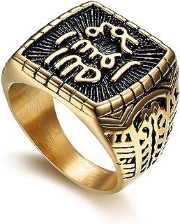 Frlensalic Titanium Stainless Steel Ring Gold-Plated Diamond Finger Jewelry