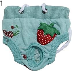 TeDUnaxxme Dog Puppy Diaper Pants Physiological Sanitary Strawberry Underwear Pet Supplies