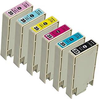 Morishop インクカートリッジ IC35 「色えんぴつ」 エプソン用 純互換インクカートリッジ 残量表示 最新ICチップ 商品1年保証付き morishop製 IC6CL35 (BK/C/M/Y/LC/LM)6色セット