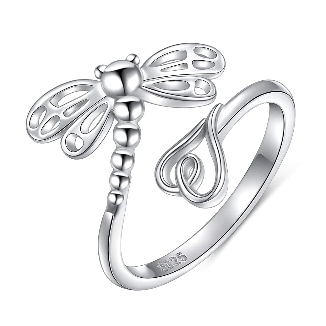 SILVER MOUNTAIN 925 Sterling Silver Open Animal Rings for Women (Resizable Ring) wfvc5289024309