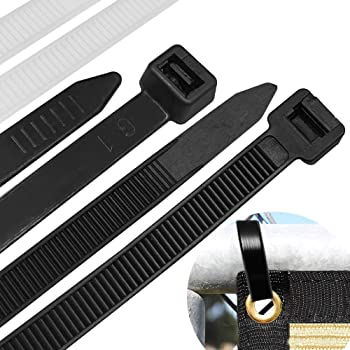 Cable zip ties Heavy Duty 26 Inch, Large Durable Adjustable Nylon wire ties,Tensile Strength 200 Pounds for Indoor and Outdoor UV Resistant, Plastic Tie wraps Black & White (40 pack)
