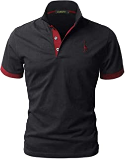 GNRSPTY Polo Homme à Manches Courtes Coton Tennis Golf T-Shirt S-XXL