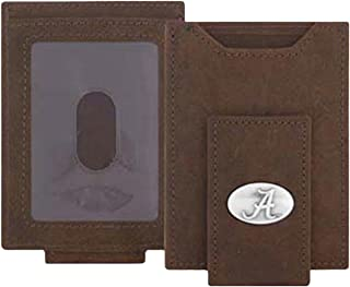 NCAALight Brown Crazy Horse Front Pocket Wallet