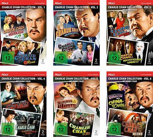 Charlie Chan Collection - Gesamtedition / 12 Filme mit Sidney Toler auf 6 DVDs (Pidax Film-Klassiker)