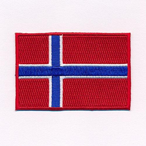 40 x 25 mm Königreich Norwegen Flagge Oslo Patch Aufnäher Aufbügler 0639 A