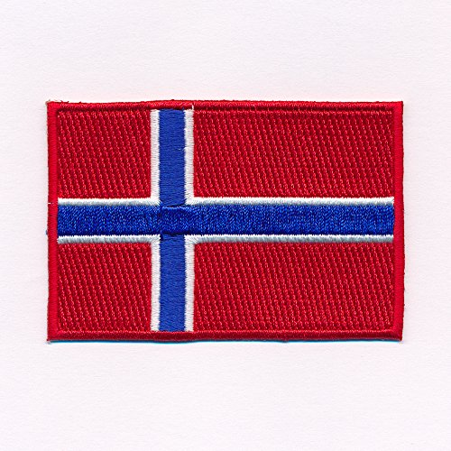 hegibaer 60 cm x 35 mm, Oslo Norwegen Flagge aufnäher Bügelbild Aufbügler Iron on Patches Applikation 0639 B