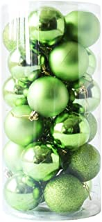 Lavany® 24PC Christmas Tree Ornaments Balls Decorations Xmas Ball Decor for Wedding Party 60mm (Green)