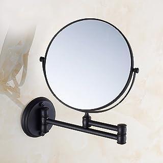 ZYLE مرايا مكياج الحائط، 8 بوصات مضاعفات الجانبين قابل للتعديل مرآة الحمام الحلاقة قابلة للطي (تكبير 3X)