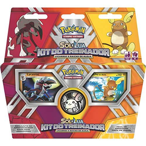 Jogo de Cartas Pokémon Kit Trein Lycanro com Rai Copag