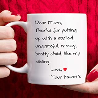 Mothers Day Gifts Mom Birthday Gifts from Daughter Son, Christmas Gifts for Moms Novelty Funny Coffee Mug with Gift Box – White, 11oz