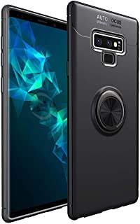 Premium Soft TPU slim case with hidden Kickstand and magnet  for car holding for Samsung Galaxy Note 9 Black color