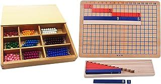 comprar comparacion Sharplace Montessori Material Matemático - Tablero de Sumas y Restas + Barra de Granos para Contar
