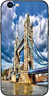 Phone Case Compatible with iphone6 Plus iphone6s Plus mobilephoneprotectingshell Brandnew Tempered Glass Backplane,London,Historical Tower Bridge on River London UK British Day Time International H