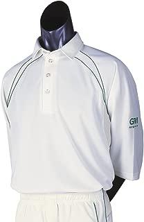 Teknik Club 3/4 Sleeve Cricket Shirt, Green Trim, Small