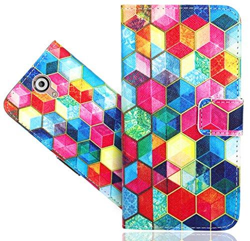 Wiko U Feel Lite Handy Tasche, FoneExpert® Wallet Hülle Flip Cover Hüllen Etui Hülle Ledertasche Lederhülle Schutzhülle Für Wiko U Feel Lite