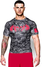 Under Armour Men's UA Combine Training Skull Bolt Compression T-Shirt Small Black