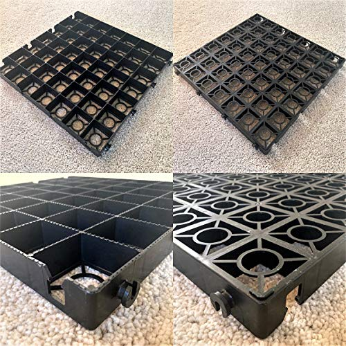 SHED BASE GRID KIT - LOG CABIN/GREENHOUSE BASE GRIDS 2.75M X 2.25M SUITS 9 x 7 FEET = FULL ECO KIT + HEAVY DUTY MEMBRANE - PLASTIC ECO PAVING SLAB BASES & DRIVEWAY GRIDS