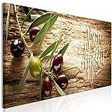 decomonkey Bilder Küche 120x40 cm 1 Teilig Leinwandbilder