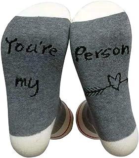 Unisex Suave Divertido Calcetines You're My Person Carta Calcetines Impresos Algodón Día de San Valentín Regalos