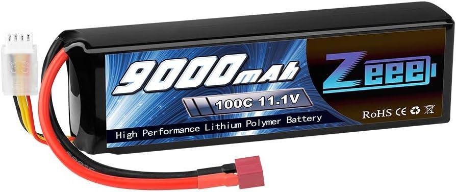 Zeee 11.1V specialty shop 3S Lipo Battery 100C Connector 2021 model 9000mAh Cas Soft Deans