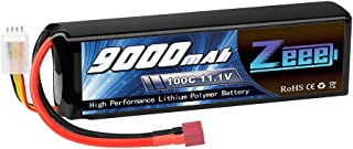 Zeee 11.1V 100C 9000mAh 3S RC Lipo Battery Deans Connector with Metal Plates for RC Car Truck RC Models Traxxas X-Maxx and Arrma Infraction
